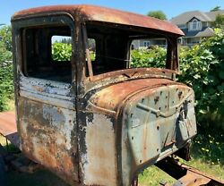 1934 Ford Pickup Truck Cab Only W/ Doors And Gas Tank Hot Rat Street Rod Jalopy