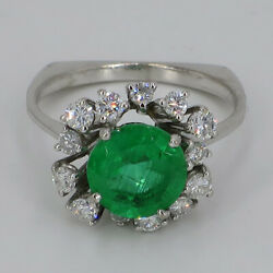 Magnificent White Gold Ring Covered With Emerald And Brilliant Um 1960/70