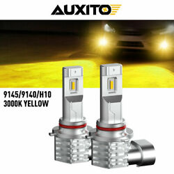Auxito H10 9145 9140 Led Fog Drl Light Bulb Golden Yellow Automotive Kit For Car