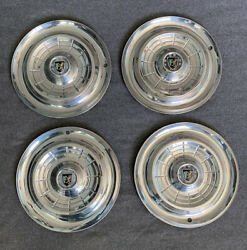 Lot Of 4 Vintage 1956 Chrysler New Yorker Hubcap Set Classic Wheel Covers