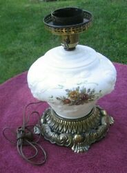 Vintage Ef And Ef Industries Working Rose Design Gwtw Embossed Table Lamp 5371px