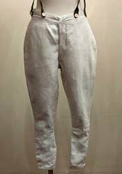 Vintage French 10 's Army Cavalry Pants Colony Military Linen Ww1
