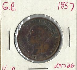 Coin Great Britain 1/2 Penny 1857 Km726 Low Combined Shipping