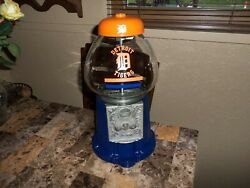 Detroit Tigers King Carousel Table Top Gumball Machine Handcrafted