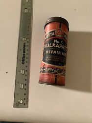 Vintage Gutta Percha Tire Tube Repair Kit Tin Can Gas Oil Bicycle Motorcycle