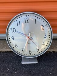 Vintage Simplex Double Aided Train Station Mounted Clock