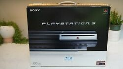 Sony Playstation 3 Ps3 Launch 60gb Console Backwards Compatible Cecha01 Box Open