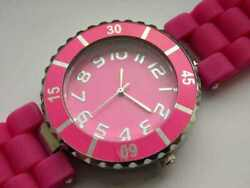 Geneva Bright Watch Rotary Bezel Silicone Water Resistence Time Accessory Style