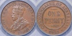 1933/2 Overdate Penny - Pcgs Ms63bn