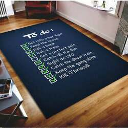 Arthurs To Do List Area Rug Game Rug Floor Carpet Play Room Decor Game Quotes