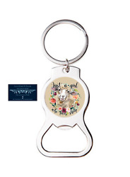 Just A Girl Who Loves Sheep Bottle Opener Keychain Key Ring Cool Unique Gift