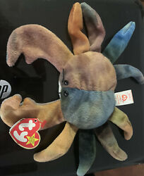Authentic Rare Ty Beanie Baby Andldquoclaude The Crabandrdquo With Errors And Stamp