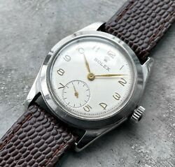 1946 Rolex 4220 Mens Watch Stainless Steel Manual - Arabic Numeral + Sub Second