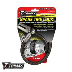 Trimax St30 Trimaflex Boat Travel Utility Trailer Toy Box Spare Tire Cable Lock