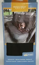 Kurgo Bench Seat Cover Truck/car Seat Protector From Pet Fur/accidents Black