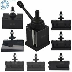Bxa 250-222 Wedge Tool Post Holder Set For Lathe10 - 15 With 7 Pc Tool Holder