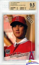 2017 Topps Now Shohei Ohtani First Ever Topps Rookie Bgs 9.5 Gem W/bgs 10 Sub