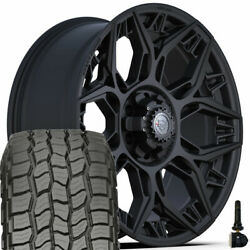 4play Wheels 4ps60 22x9 And 285/45r22 Discoverer At3 Set For Ford Chevy Gmc Ram