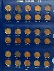 1909 S Vdb Complete To 1973 Lincoln Wheat And Memorial Cents 171 Coin Set