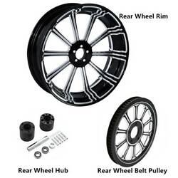18 X 5.5and039and039 Rear Wheel Rimandhubandbelt Pulley Sprocket Fit For Harley Fltr 08-21 15