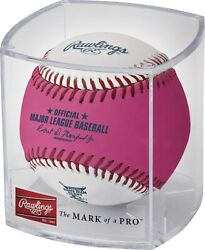 2021 All-star Game Official Pink Home Run Derby Moneyball Baseball In Cube