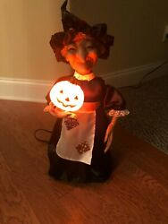 Telco Animated Motionette Halloween Witch 24 Figure Lighted Decoration Boxed