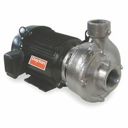 Dayton 12a076 Stainless Steel 7-1/2 Hp Centrifugal Pump 208-230/460v