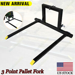 3 Point Pallet Forks 1 Tractor Bucket Quick Hitch Category Attachments Mover Usa