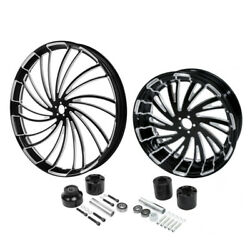 30 Front 18'' Rear Wheel Rim And Disc Hub Fit For Harley Electra Glide 2008-21 19