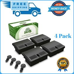 6-pack Mouse Bait Stations Small Rat Trap Alternative Rodent Traps Bait Station
