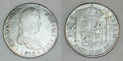 1817 Ferdinand Vii Of Spain Large Silver Coin Bolivia 8 Reales Mint Mark Pts Xf+