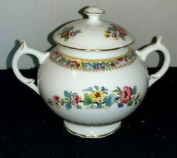 Coalport Ming Rose Sugar Bowl With Cover England