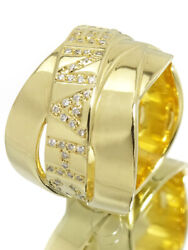 K18yg Boldic Ring Diamond Us Size 5.5 Yellow Gold For Ladies Accessory