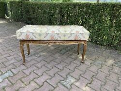 Real Antique Frame Bench/settee/stool/banquette With New Durable Cushion
