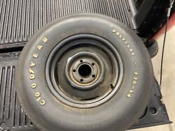 Original Goodyear F70-14 Polyglas White Letter Tires, One Mounted To Oem Wheel.