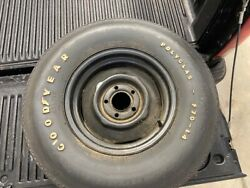 Original Goodyear F70-14 Polyglas White Letter Tires One Mounted To Oem Wheel.