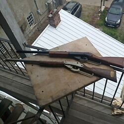 Vintage Daisy 103 Plastic Lever Action Bb Gun And 95b Wood Working Condition Lot