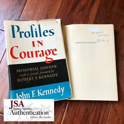 Robert Kennedy Jsa Signed Profiles In Courage Autograph Book John F Kennedy