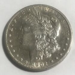 1902-s Morgan Dollar , Xf / Au , Extra Fine To Almost Uncirculated