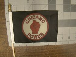 Chicano Power Car Truck 4 X 6 Inch Flag For Parade License Plate Topper Chicano
