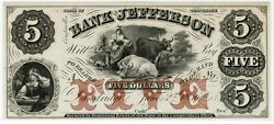 Tennessee Bank Of Jefferson Proof. Superb Gem Uncirculated. Colorful. 1856.