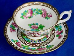 Coalport Indian Tree Bone China Hand Painted Cup And Saucer England