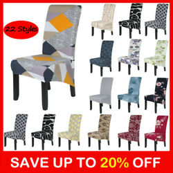 Dining Chair Covers Stretch High Back Seat Cover Protective Slipcover Home Decor