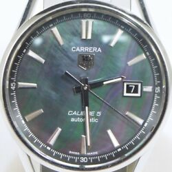 Tag Heuer Carrera Caliber 5 War211f Automatic Black Shell Dial Stainless Menandrsquos
