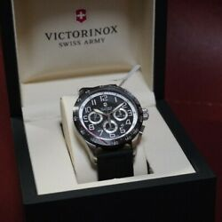 Authentic Victorinox Watch 241447 Airboss Mach 6 Automatic Chronograph