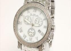 Auth Joe Rodeo Watch Classic 3.50ct Avalanche Ice Rink Stainless Steel Diamond