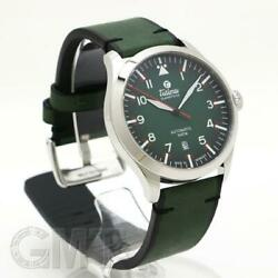Authentic Tutima Watch 6105-29 Flieger Green Self-winding Sapphire Crystal Glass