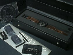Bell And Ross Airborne Skull Watch Br01-92airb-h Limited Automatic Black With Box