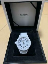 Authentic Nixon Automatic Winding The Ceramic 42-20 White Sapphire Crystal Glass