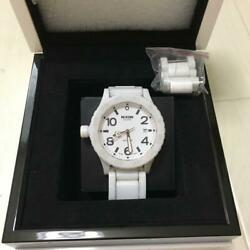 Authentic Nixon Watch White Ceramic 300m With Waterproof Function A147-216 51-30